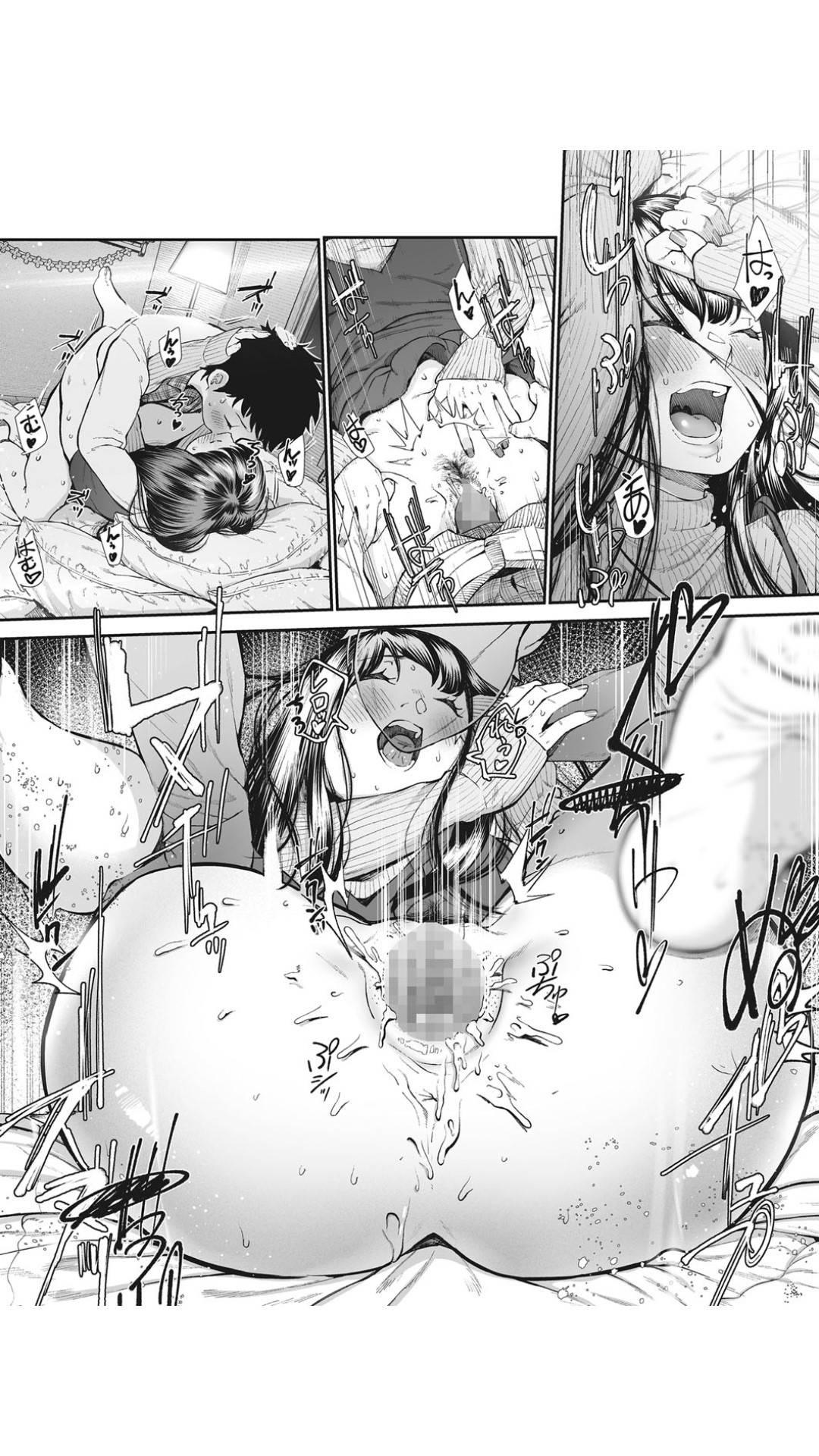 【エロ漫画】クリスマスのお祝いをしながら長年同棲している彼氏との結婚を決めた彼女…じゃれ合いながらイチャラブ生ハメセックスしまくり連続中出し同時イキ【じょろり:記念日。】